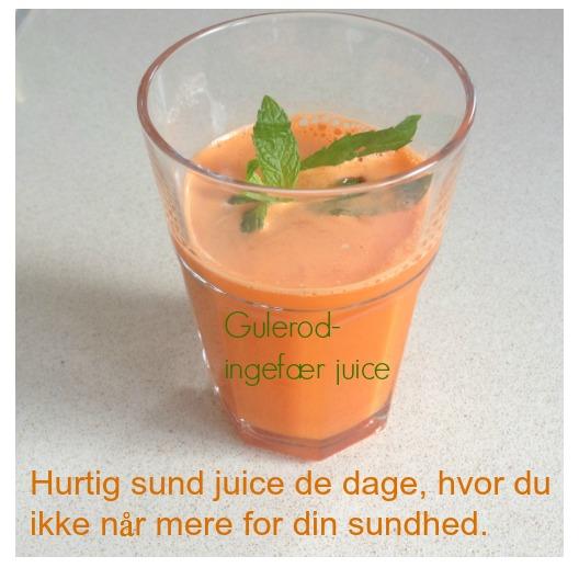 Gulerod-ingefær juice