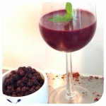 Kakao blåbær smoothie